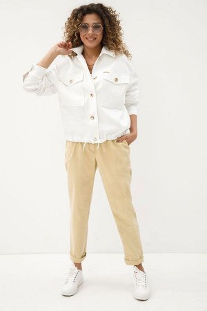 Брюки, куртка Kod:127 2029 белый+песочный