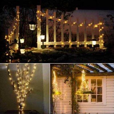 Садовые гирлянды на солнечной батарее! Невероятно красиво⭐  — Садовая  солнечная гирлянда - светлячки — Садовое освещение