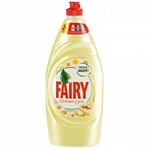 FAIRY Средство для мытья посуды Нежные руки Ромашка и витамин Е 900мл\1л