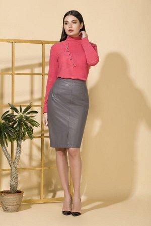 Юбка миди Рост: 164 см. Состав ткани: юбка: полиэстр 100% Юбка зауженная к низу, из искусственной кожи, с притачным поясом. Переднее полотнище со средним швом, в шве разрез. Заднее полотнище со средни