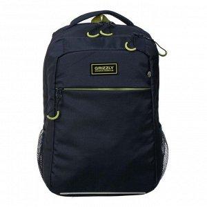 Рюкзак школьный,  RB-156, 39x28x19 см, эргономичная спинка, отделение для ноутбука, синий