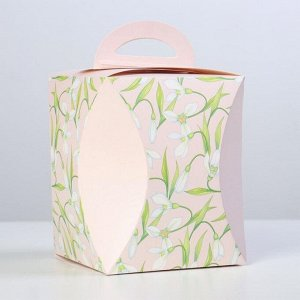 """Коробка для кулича """"Подснежники"""" диаметр 12,4 см"""