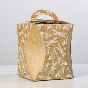 "Коробка для кулича ""Стрекозы и бабочки"" диаметр 12,4 см"