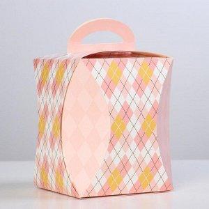"""Коробка для кулича """"Ромбики"""" диаметр 12,4 см"""