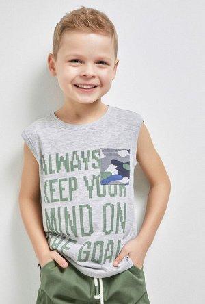 Мaйка детская для мальчиков Deeper серый