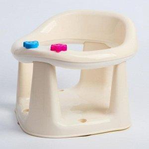 Детское сиденье для купания на присосках, цвет оранжевый