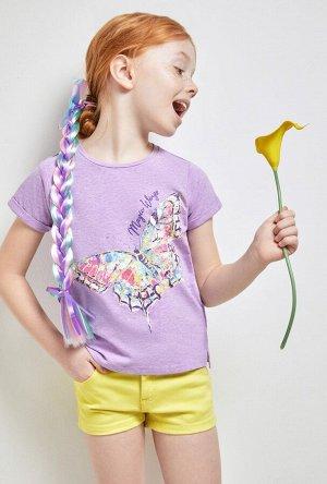 Футболка(Фуфайка) детская для девочек Termit светло-фиолетовый