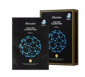 Тканевая маска с фуллереном и пептидами для гладкой и упругой кожи glory aqua fullerene mask deluxe