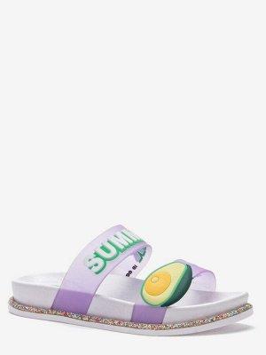 807528/01-02 фиолетовый ПВХ женские туфли открытые (В-Л 2021)