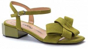 женские туфли открытые (В-Л 2021) салатовый иск.замша