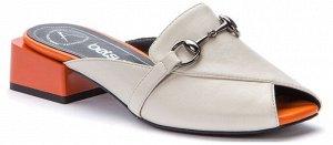 917037/01-06 св.бежевый иск.кожа женские туфли открытые (В-Л 2021)
