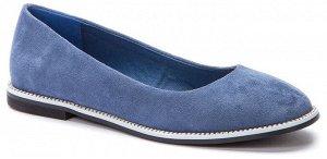 917003/01-05 синий иск.замша женские туфли (В-Л 2021)