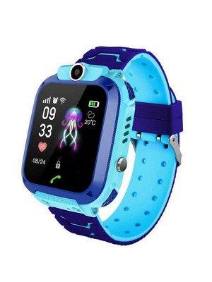 Детские смарт-часы Q12 GPS (голубой)
