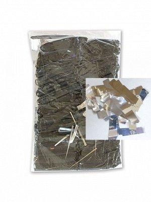 Конфетти негорящее фольга 500 гр цвет серебрянный