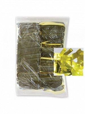 Конфетти негорящее фольга 500 гр цвет золотой