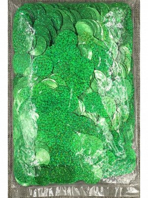 Конфетти Круг 3 см голография 100 гр