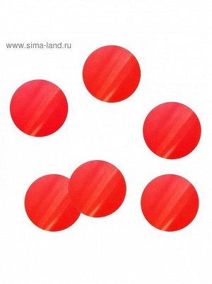 Конфетти круг 3 см бумага 500 гр цвет красный