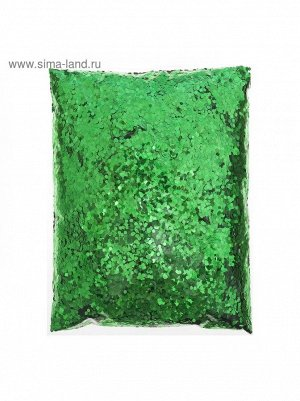 Конфетти шестиугольник цвет зеленый 500 гр