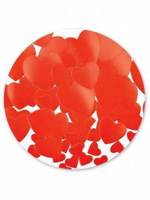 Конфетти бумага 56 гр Сердца красные