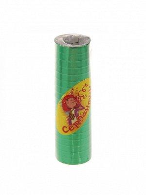 Серпантин блестящий набор 18 шт цвет Зеленый