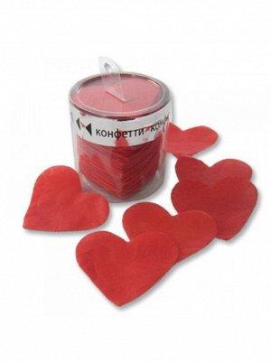 Конфетти 60 гр бумага негорящее Сердца красные