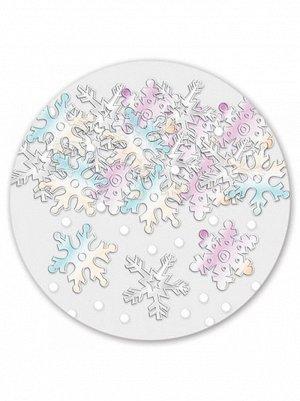 Конфетти 14 гр Снежинки перламутровые