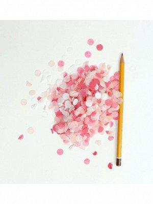 Конфетти 1 см 50 гр бумага цвет в ассортименте