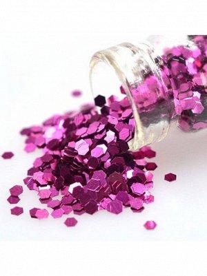 Блестки Конфетти для декора розовые 90 грамм