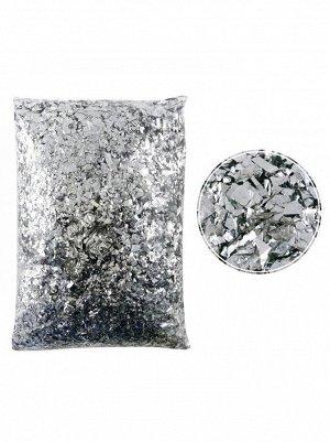 Конфетти Дробленые серебряные 250 гр Китай