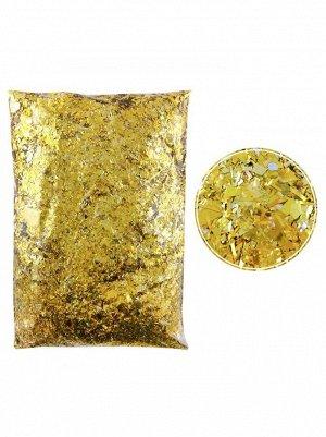 Конфетти Дробленые золотые 250 гр Китай