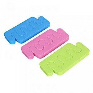 ЮниLook Разделители для пальцев 2шт, ЭВА, 9,5х4,5см, 3 цвета