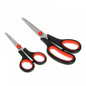С GALANTE Light Набор ножниц универсальных 2 предмета: большие 20,5см, малые 14см, сплав, пластик