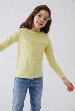 Джемпер детский для девочек Bern желтый