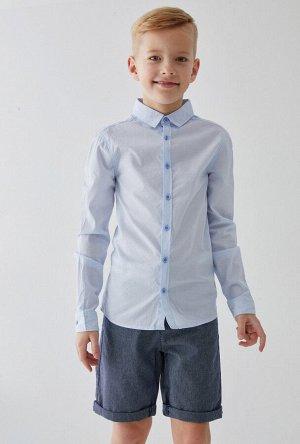 Сорочка верхняя детская для мальчиков Khlebnikov голубой