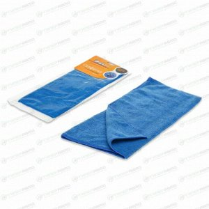 Салфетка Airline, двусторонняя, для сухой и влажной уборки, из микрофибры, 400x350мм, синяя, арт. AB-A-01