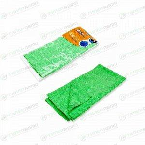 Салфетка Airline, для сухой и влажной уборки, универсальная, из микрофибры, 700x500мм, зеленая, арт. AB-A-07