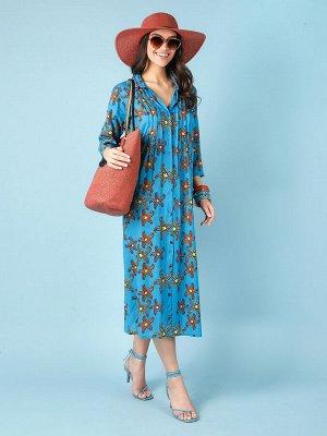 Платье 100% вискоза, FABRETTI, FRT2021003-11