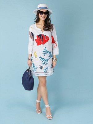 Платье 100% хлопок, FABRETTI, FRT2021010-9