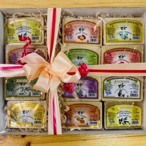 Набор оливкового мыла Knossos в коробочке, 12шт.Х100г