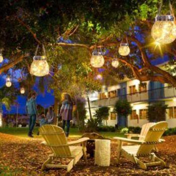 Садовые гирлянды на солнечной батарее! Невероятно красиво⭐  — Садовый солнечный светильник — Садовое освещение