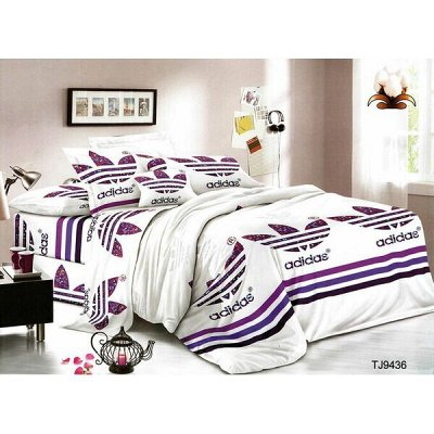 ECOLAN — домашний текстиль, яркие принты! Наматрасники — Постельное белье (полисатин) - семейный — Семейные комплекты