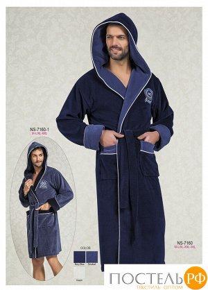 7160 Халат мужской Nysa Us Polo 3XL темно-синий  7160