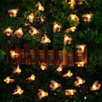 Садовые гирлянды на солнечной батарее! Невероятно красиво⭐  — Садовая солнечная гирлянда - пчёлки — Садовое освещение