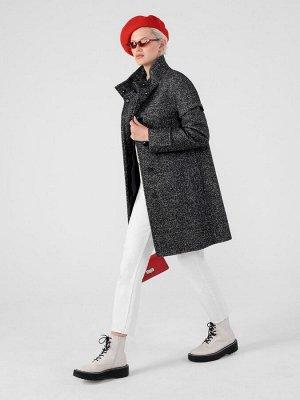 Пальто-трансформер женское демисезонное (пальто + куртка) м. 1013832p30098 Пальтовая ткань