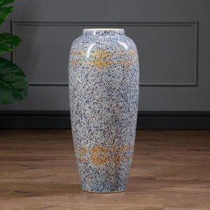 "Ваза напольная ""Дана"". точеный мрамор. 60 см. микс. керамика"