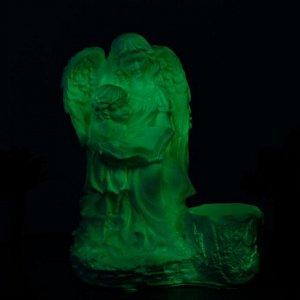 """Светящееся фигурное кашпо """"Дева ангел с ребенком""""  36см"""