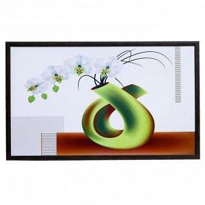 """Картина """"Белая орхидея в вазе"""" 60х100(65х105) см"""