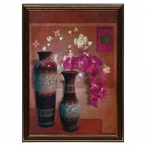 """Картина """"Орхидея в вазе"""" 25х35(28х38) см"""