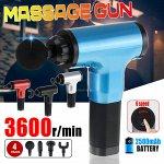 Аккумуляторный портативный ручной массажер для тела Fascial Gun XL-208 Silver
