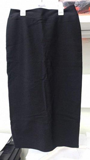 Юбка черная ниже колена
